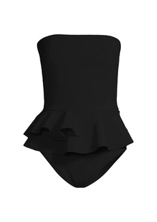 Chiara Boni La Petite Robe Aglaya Strapless One-Piece Swimsuit