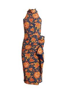 Chiara Boni La Petite Robe Amenadiel Printed Halter Dress