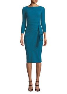 Chiara Boni La Petite Robe Annikette Body-Con Dress w/ Draped Skirt