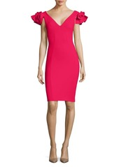 Chiara Boni La Petite Robe Belvis Flutter Sleeve Sheath Dress