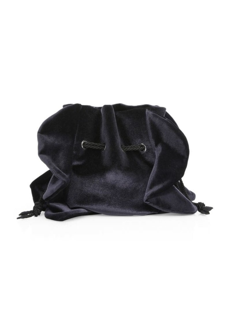Chiara Boni La Petite Robe Beyonce Velvet Drawstring Bag