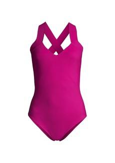 Chiara Boni La Petite Robe Bine Crisscross One-Piece Swimsuit