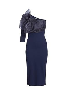 Chiara Boni La Petite Robe Caltha Organza Bodice Asymmetric Bodycon Dress