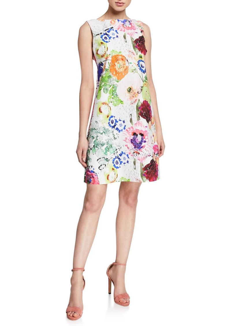 be9aa5ce9e783 Abstract Floral-Print High-Neck Sleeveless A-Line Dress. Chiara Boni La  Petite Robe