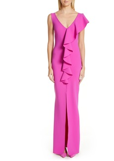 Chiara Boni La Petite Robe Boudicea Ruffle Evening Dress