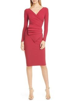 Chiara Boni La Petite Robe Kaya Long Sleeve Ruffle Cocktail Dress