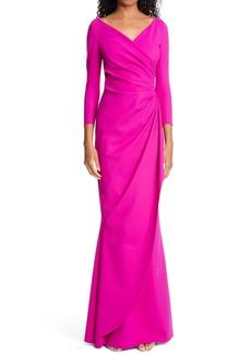 Chiara Boni La Petite Robe Long Sleeve Trumpet Gown