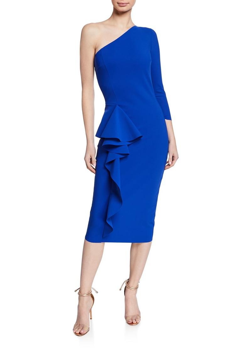 grande remise choisir le plus récent où puis je acheter One-Shoulder Asymmetric-Ruffle Cocktail Dress
