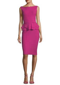 Chiara Boni La Petite Robe Sebla Sleeveless Peplum Cocktail Dress