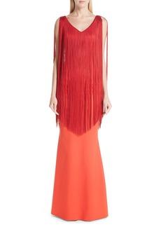 Chiara Boni La Petite Robe Tammy Fringe Gown