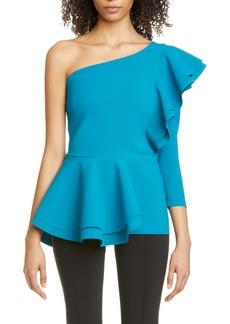 Chiara Boni La Petite Robe Ulrikke One-Shoulder Ruffle Peplum Top