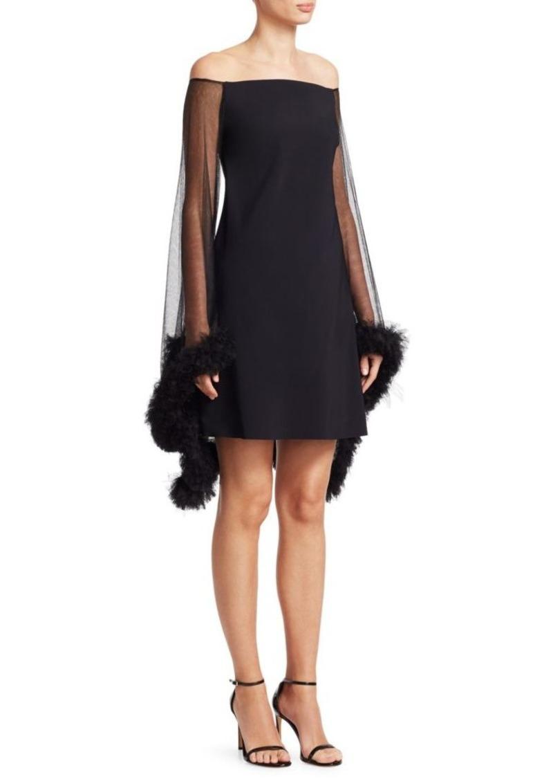 b6b1049cdf0 SALE! Chiara Boni La Petite Robe Chiyo Illusion Off-The-Shoulder Dress