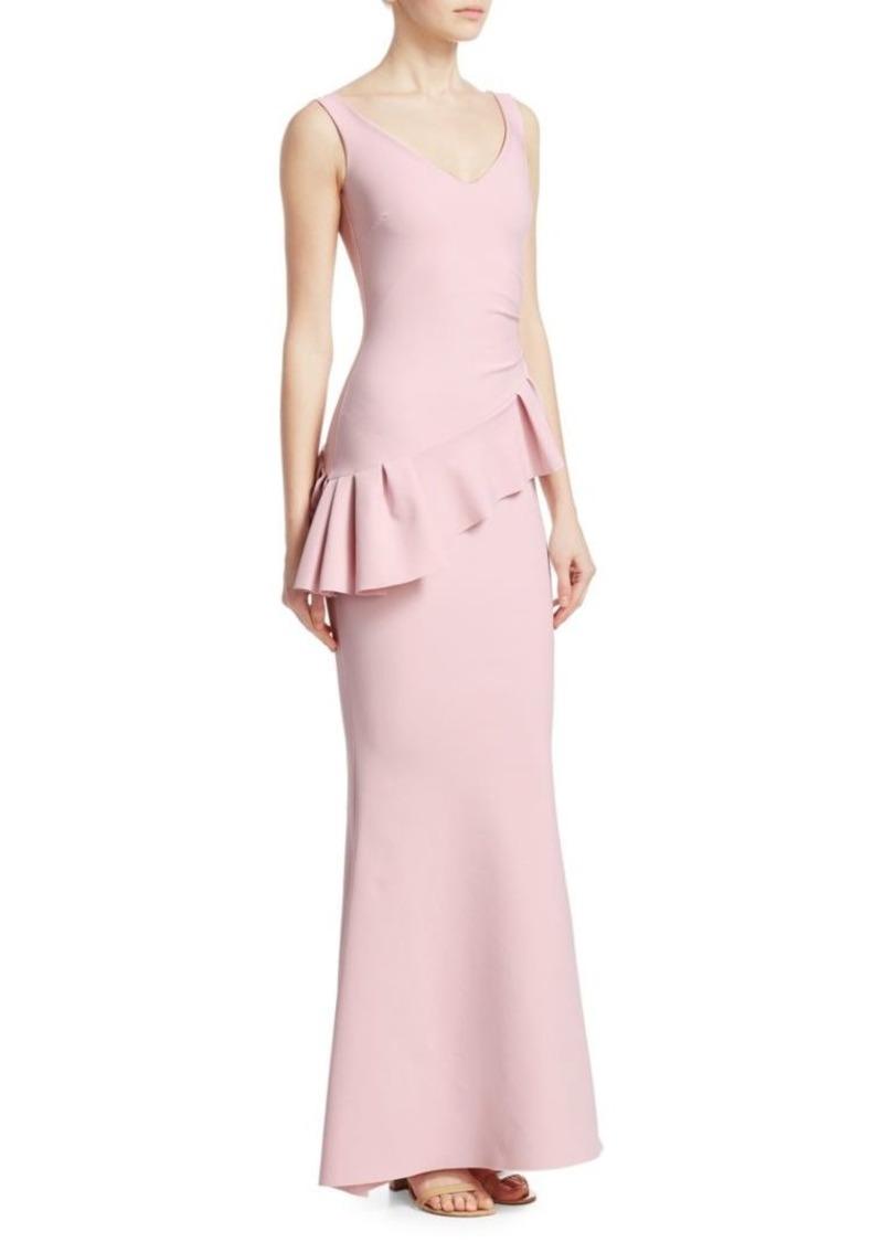 Chiara Boni La Petite Robe Cioco Asymmetrical Peplum Gown
