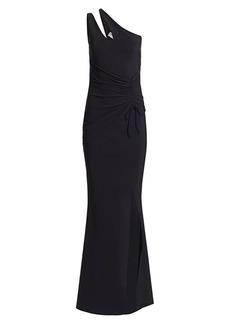 Chiara Boni La Petite Robe Contanza One-Shoulder Ruched Gown