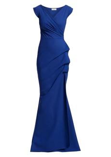 Chiara Boni La Petite Robe Egea Cap-Sleeve Jersey Gown