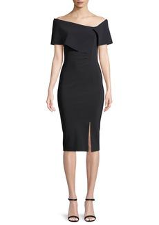 Chiara Boni La Petite Robe Egida Asymmetric Off-the-Shoulder Cocktail Dress