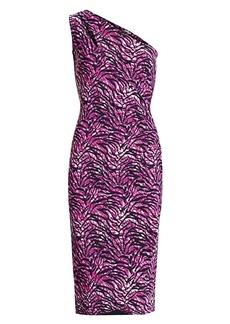 Chiara Boni La Petite Robe Gosia Tiger-Print Ruched Sheath Dress