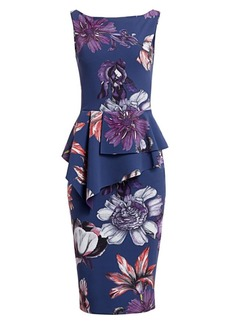 Chiara Boni La Petite Robe Hannika Floral Peplum Dress