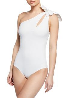 3d0b17c781d9e Chiara Boni La Petite Robe Irama One-Shoulder One-Piece Swimsuit with  Cutout Detail