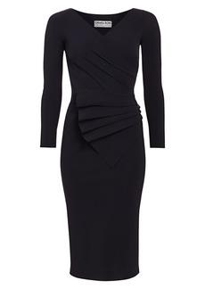 Chiara Boni La Petite Robe Kaya Pleated Detail Bodycon Dress