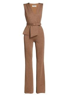 Chiara Boni La Petite Robe Kerolyn Lurex Belted Jumpsuit