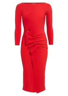 Chiara Boni La Petite Robe Kimi Pleated Detail Sheath Dress
