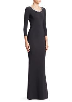 6409e326f38 Chiara Boni La Petite Robe Longina Embellished Gown
