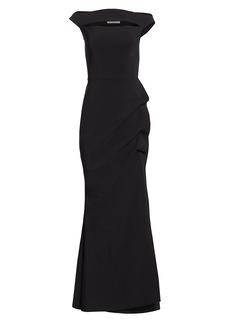 Chiara Boni La Petite Robe Melania Off-The-Shoulder Gown