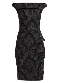 Chiara Boni La Petite Robe Melania Off-The-Shoulder Print Dress