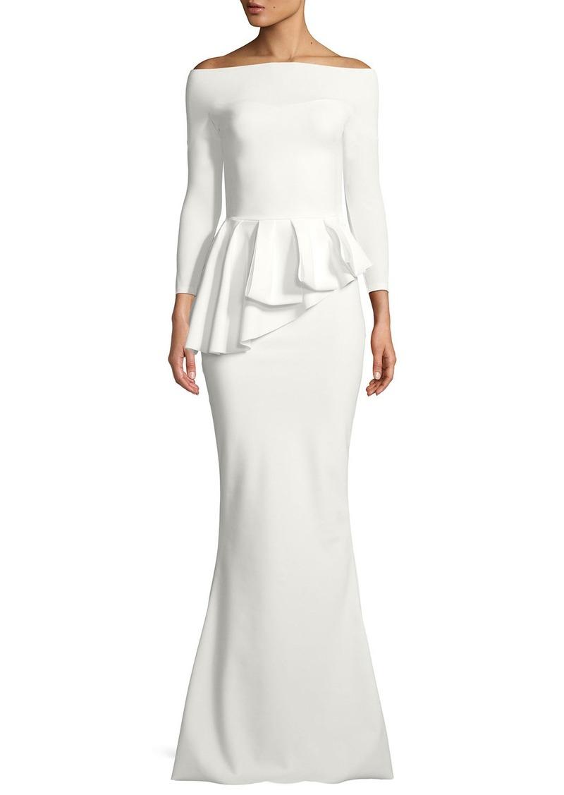 cf1625e34e92d Chiara Boni La Petite Robe Nabelle Mermaid Jersey Peplum Gown | Dresses