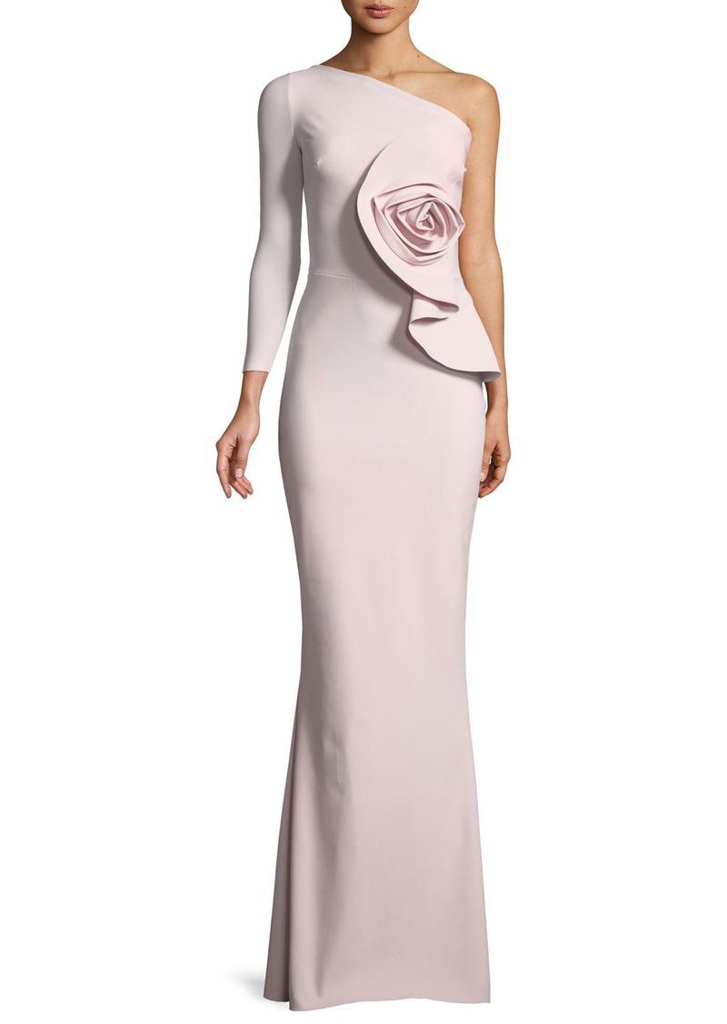 04b7515cc57 Chiara Boni La Petite Robe Noriko 3D Rose Asymmetric Gown Now  545.00