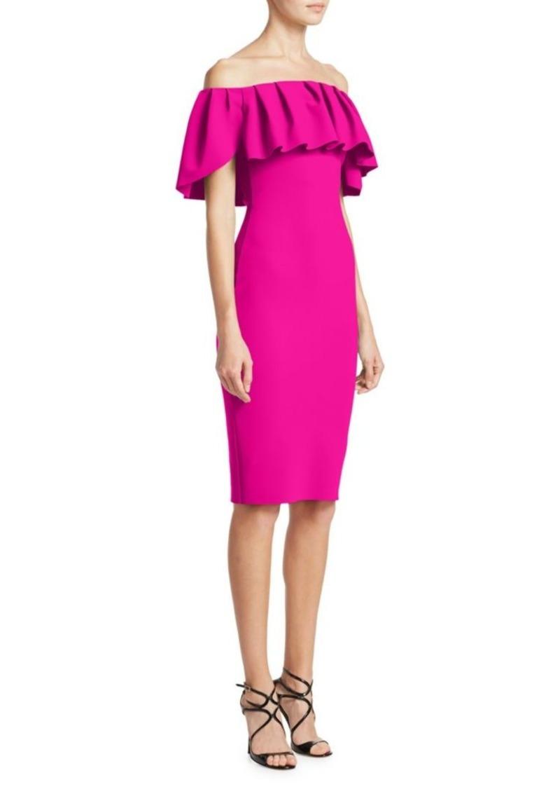 88d6c97f Chiara Boni La Petite Robe Off-the-Shoulder Ruffled Bodycon Dress ...