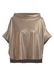 Chiara Boni La Petite Robe Pasha Short-Sleeve Lame Top