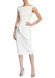 Chiara Boni La Petite Robe Rudina Stretch Jersey Peplum Dress
