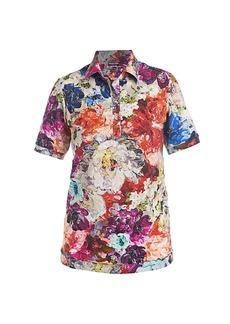 Chiara Boni La Petite Robe Sacha Floral Button-Front Shirt