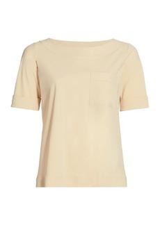 Chiara Boni La Petite Robe Trifonia Short-Sleeve Patch-Pocket Top
