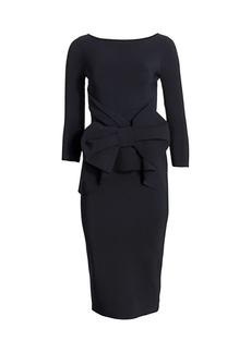 Chiara Boni La Petite Robe Yolanda Bow Sheath Dress