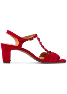 Chie Mihara buckled ruffle sandals - Red