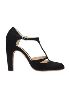 Chie Mihara Daylil Sandals In Black Velvet