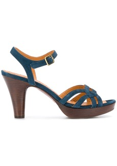 Chie Mihara suede ankle strap sandals