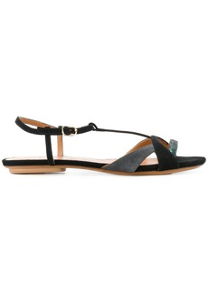 Chie Mihara two-tone sandals - Black