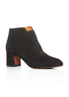 Chie Mihara Women's Naya Embossed-Dot Block-Heel Booties