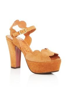 Chie Mihara Women's Xevo Suede High Heel Platform Sandals