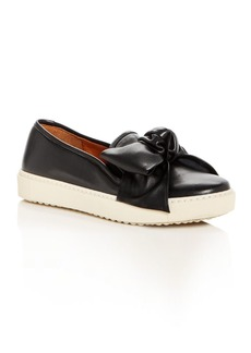 Chie Mihara Women's Zalo Leather Bow Slip-On Sneakers