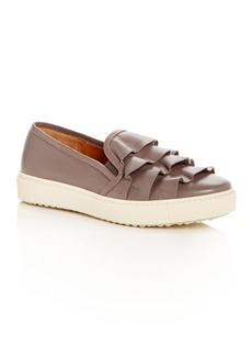 Chie Mihara Women's Zapli Leather Ruffle Slip-On Sneakers
