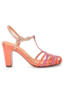 Heeled Multicolor Leather Sandal Chie Mihara Ku-quenu