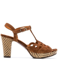 Chie Mihara patterned cut-out detail sandals