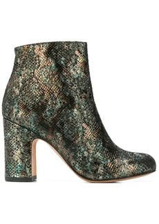 Chie Mihara snakeskin effect ankle boots