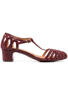 Chie Mihara snakeskin-effect leather sandals
