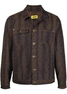 Chinatown Market snakeskin-effect box jacket